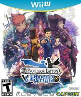 Professor Layton vs. Ace Attorney Wii U Boxart by Dollarluigi