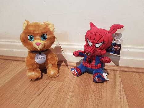 Spider-Ham and Goose the Cat