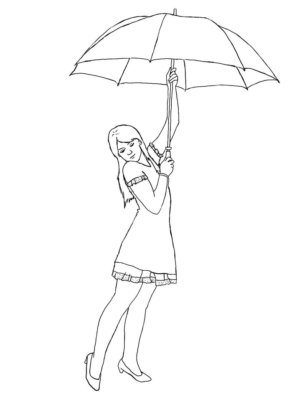Line Art Umbrella : Umbrella lineart by akumaryoshi on deviantart