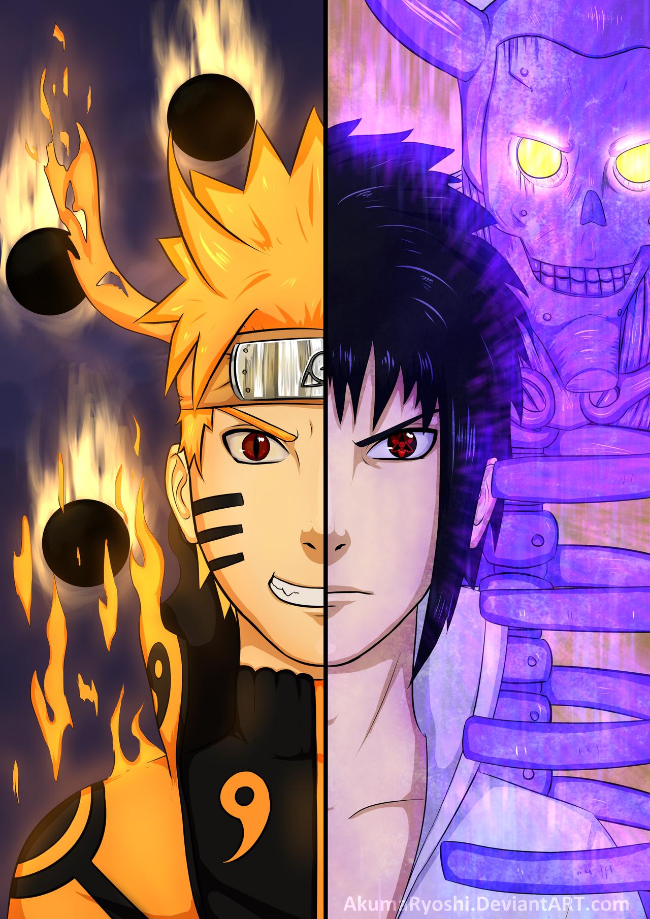 Naruto vs sasuke by akumaryoshi on deviantart - Naruto as sasuke ...