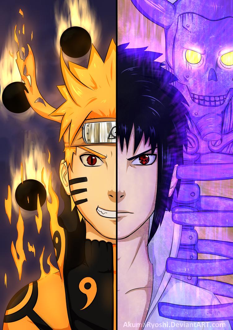 Naruto VS Sasuke by AkumaRyoshi