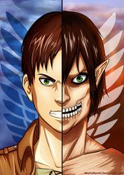 Eren VS Titan