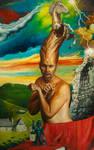 LE MUR DU SILENCE- ART FANTASTIQUE- PSYCHOREALISME by Chaudesaigues