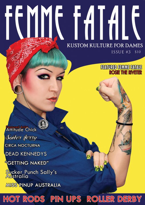 Femme Fatale Magazine Cover by Miss-Cherry-Martini