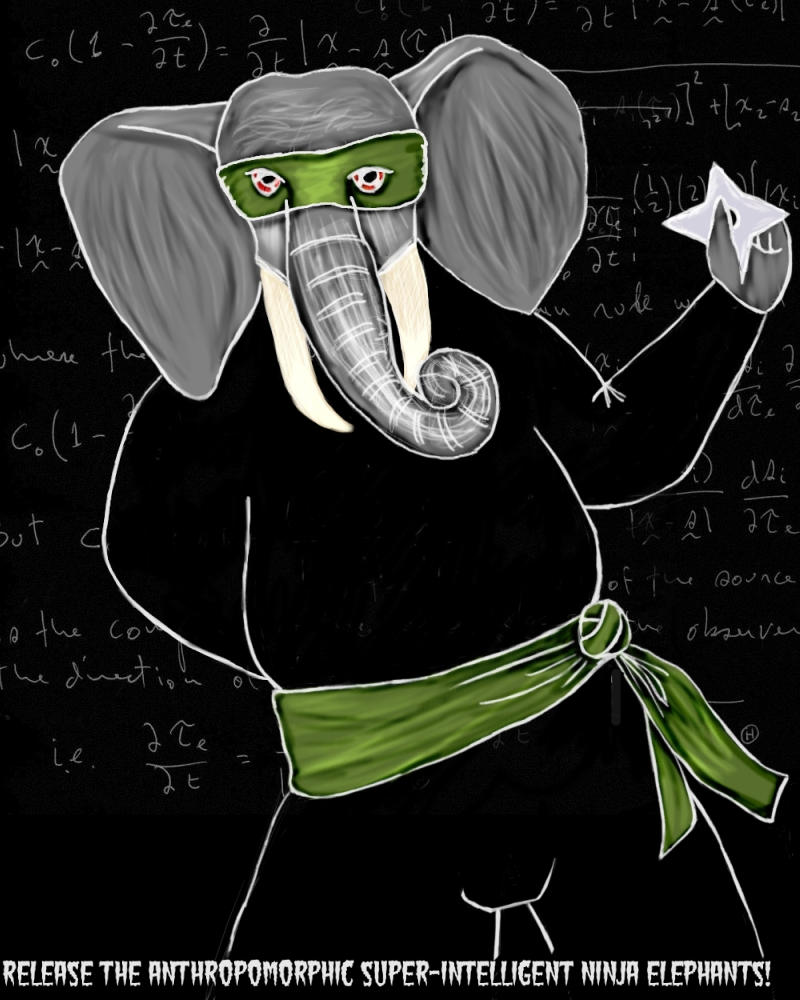Ninja Elephant by cabernetpixi
