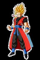 Dragon Ball Heroes - Xeno Goku Ssj Render by SaintedKnight