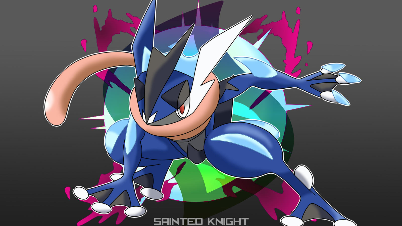 how to draw mega greninja