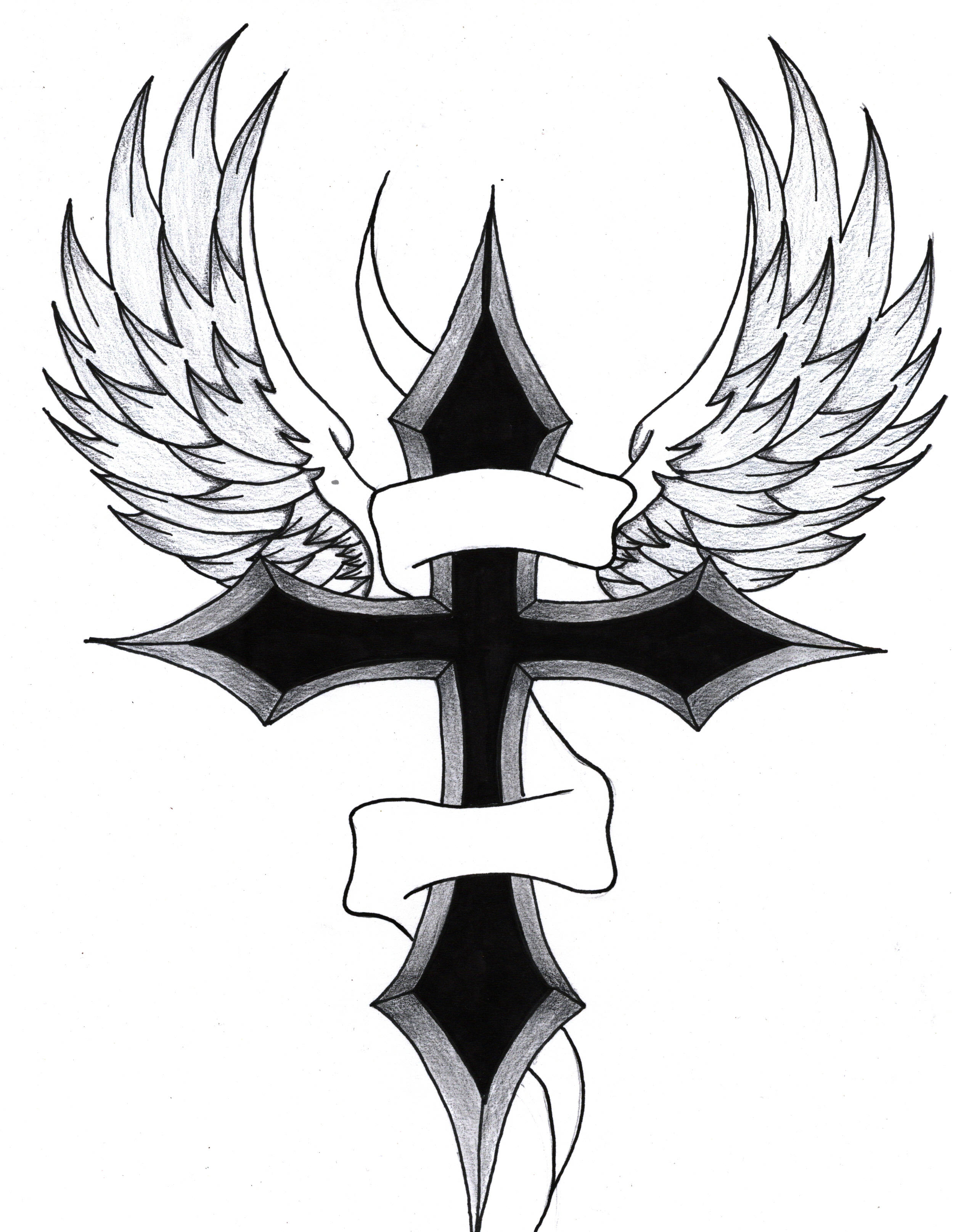 Cool Drawings Of Crosses With Wings Images amp Pictures Becuo