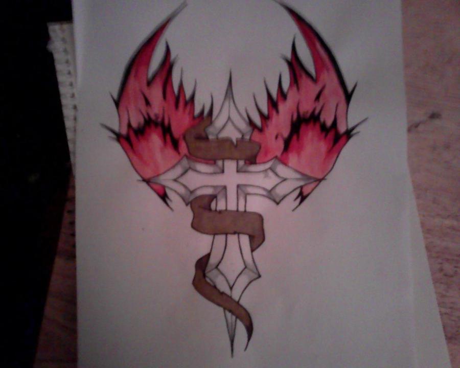 Cross with wings 2 by Purpleaf on DeviantArt
