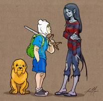 Jake, Finn and Marceline