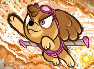 This pup's gotta fly! // Taivaalta kajahtaa!