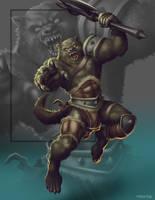 Commish 437: Barbarian Werewolf by rhardo