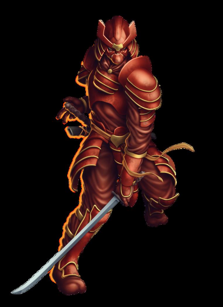 Commish 444: Red Samurai by rhardo on DeviantArt
