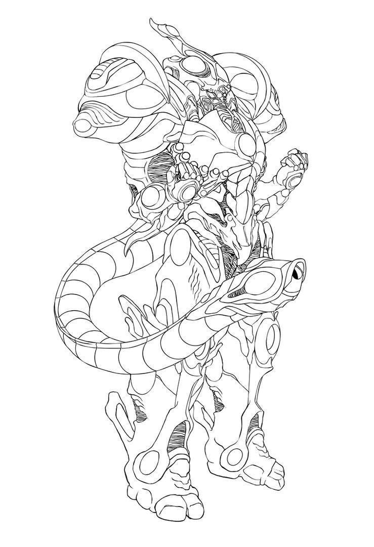 Prometheus Gigantic Line Art by rhardo
