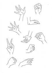 Manga hands by Kakika