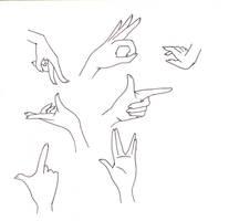 Manga hands II by Kakika
