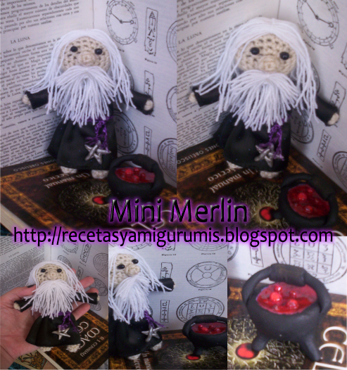Mini Merlin amigurumi by luna-plateada