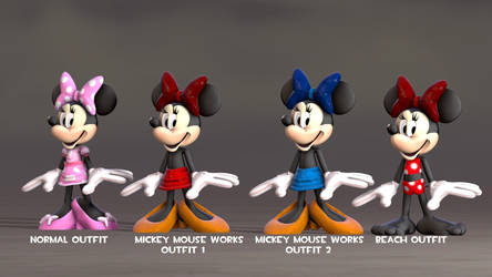 (SFM) My Minnie mouse Custom Outfits by Infante2017