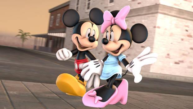 (SFM) Two Mice walking across the Street