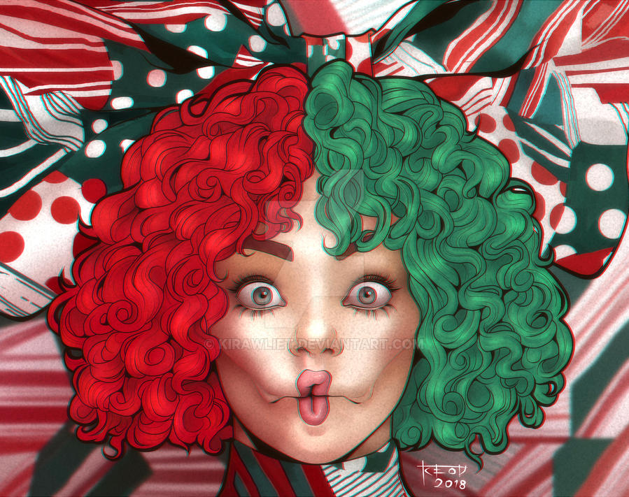 Everyday Is Christmas.Sia Everyday Is Christmas Cover Illustration By Kirawliet On