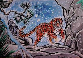 Tiger painting - challenge by RiavaCornelia