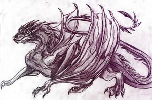Smaug sketch by RiavaCornelia