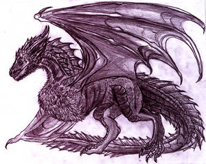 Drogon sketch? by RiavaCornelia