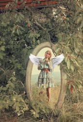 Garden Angel by RiavaCornelia
