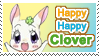 Happy Happy Clover Plain Stamp by GeneveveX