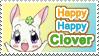 Happy Happy Clover Plain Stamp by GeneveveX