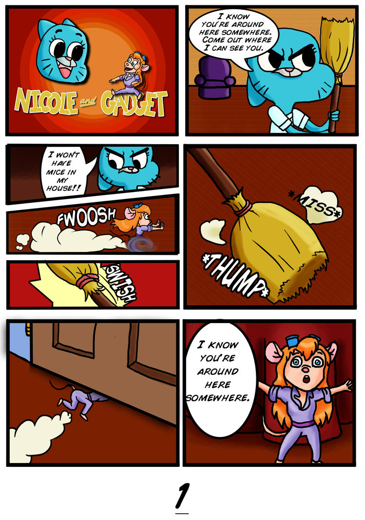 Nicole and Gadget Comic Page 1 by Novum-Semita