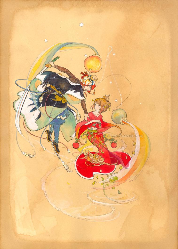 Star Warrior and Apple Princess by Yakra