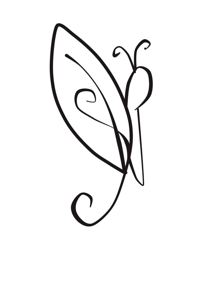 Line Drawing Of Butterfly : Butterfly line art by funnybunny on deviantart