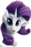 Rarity smile headshot by ObscureDragone