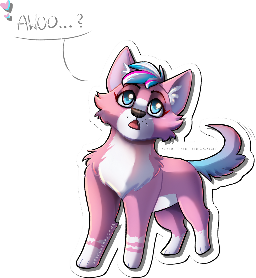 Pink Wolf Awooo