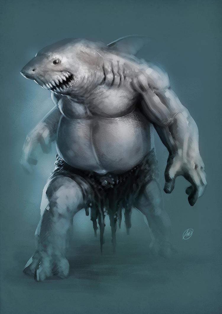 Shark Character by andersonedsilva