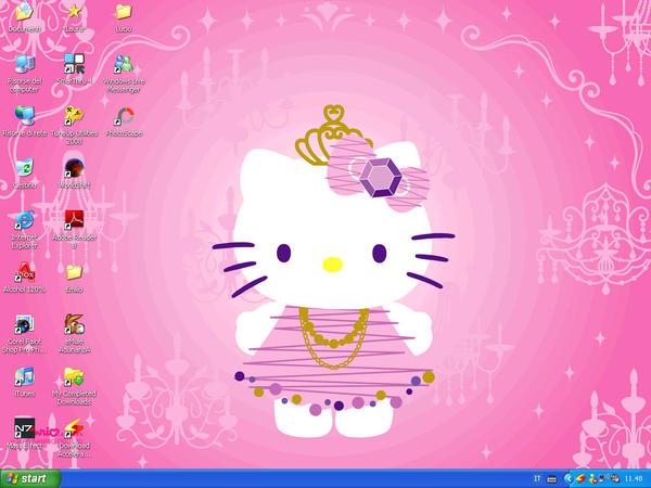 Another Hello Kitty Desktop :3 by MizzLorelai