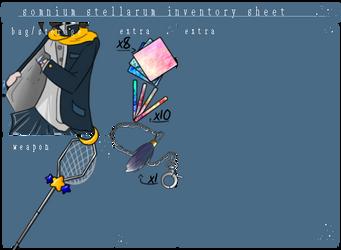 Somnium Stellarum: Chase's Inventory by chichimi