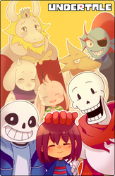 UNDERTALE : together forever by hen-tie