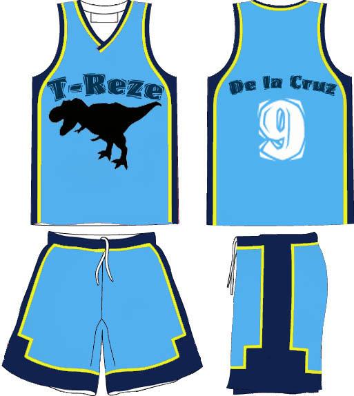 Treze basketball jersey BLUE by popazrael