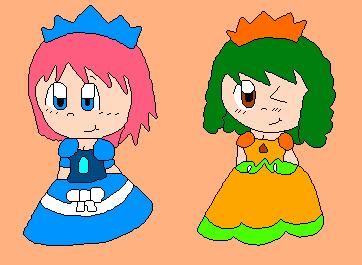Nara and Pumpkin Fat Princess Style by Narlina-Lumiose