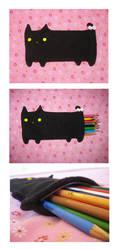Cat Pencil Pouch by uglykat