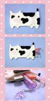 Cow Pencil Pouch