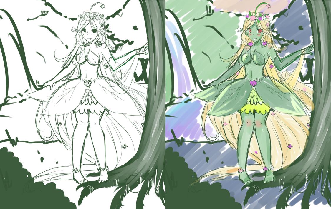 Plant Princess Sketch by xStarrii