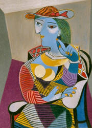 Seated Woman - after Picasso by tperry2054