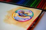 soap bubble butterfly