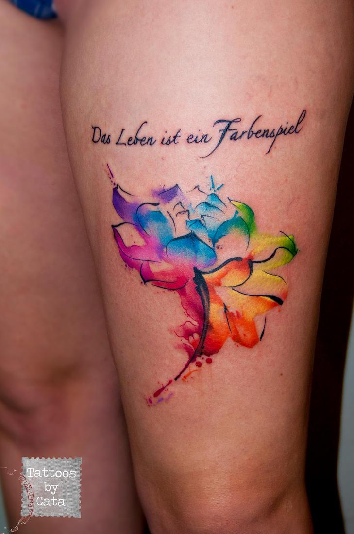 Watercolor Flower by TattoosByCata on DeviantArt