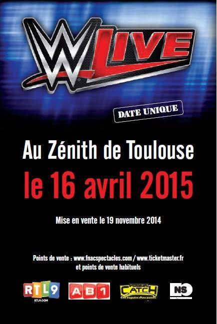 wwe live toulouse 2015 poster by wrestling networld on deviantart. Black Bedroom Furniture Sets. Home Design Ideas