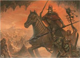 The Deathly Entourage of King Valdos of Tekhannis by davidmichaelwright