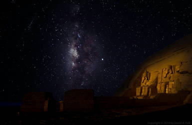 Abu Simbel with the Milky Way